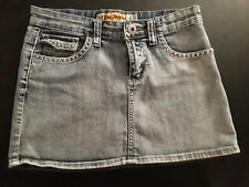 denim mini skirt size 7 stone washed stretch denim new without tags