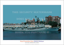 HMAS BRISBANE 41 ROYAL AUSTRALIAN NAVY A3 POSTER PRINT PICTURE PHOTO IMAGE x