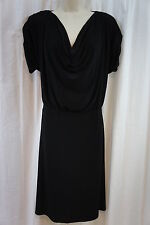 Jones New York Dress Sz 12 Black Cowl Neck Business Evening Cocktail Dress