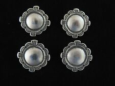"""Silver Conchos/Buttons #641 (4) Stamped 1"""""""