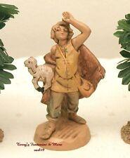 "Fontanini Depose Italy 2.5"" Micah w/Sheep 1990 Nativity Village Figure"