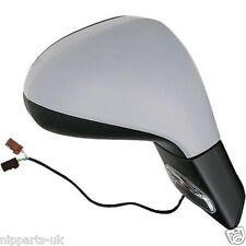 PEUGEOT 207 2006-2013 PRIMED ELECTRIC DOOR WING MIRROR  LH LEFT PASSENGER SIDE