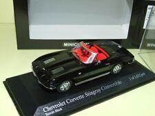 CHEVROLET CORVETTE STINGRAY Cabriolet 1963 Noir MINICHAMPS
