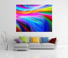 RAINBOW ABSTRACT GIANT WALL ART PICTURE PRINT POSTER G130