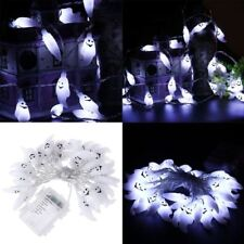 Battery Operated Chasing LED Lights String With Timer Indoor / Outdoor Halloween 4.5m 40 LEDs Hallowen Ghost White Light