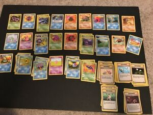Pokemon TCG 1999 Fossil Set Lot 78 Cards - Great Condition - OLD