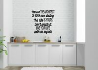 You Are The Architect Inspired Design Home Decor Wall Art Decal Vinyl Sticker