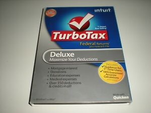 Turbotax 2011 Deluxe Federal Only.  No state. Sealed retail box.