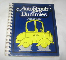 Auto Repairs for Dummies Deanna Sclar 1976 Paperback Spiral Bound Free Ship USA