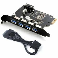 ORICO 4-Port USB 3.0 PCI Express PCIe Card Adapter, with Molex 4-Pin to SATA 1