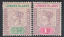 Islas de Sotavento 1890 Malva/Verde 1/2d Malva/Rose 1d corona CA SG1/2 Perfecto
