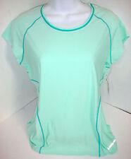 Moving Comfort Women Frontrunner Athletic Moisture Control Shirt Top BeacGlass L