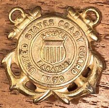 Vintage United States Coast Guard Semper Paratus Double Anchors Lapel Hat Pin