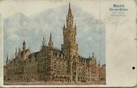 1535: Postkarte Ansichtskarte München Das neue Rathaus nach seiner Fertigstellun