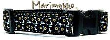 """Marimekko Flowers dog collar handmade adjustable buckle collar 1"""" wide or leash"""