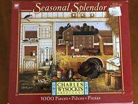 Charles Wysocki Puzzle Turkey In The Straw  1000 Piece Seasonal Splendor