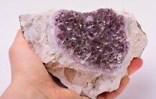 Natural AMETHYST GEODE from GERMANY Crystal Mineral Rock Specimen ADL417