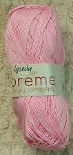 Wendy Supreme 4 Ply Luxury 1825 Apple Blossom Cotton Yarn Flat Rate Post
