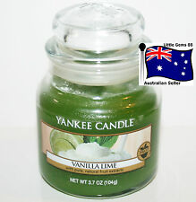 YANKEE CANDLE SMALL JAR CANDLE * Vanilla Lime * GLASS 3.7oz * SCENTED