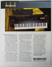 ENSONIQ ASR-10 Digital Sampling Keyboard Module 6-Page Full Color Brochure VGC