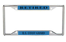 Retired Coast Guard Metal License Plate Frame Every State