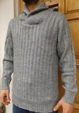 MEN`S NEW C&A ANGELO LITRICO CHUNKY SHAWL NECK KNIT JUMPER THICK WARM SWEATER