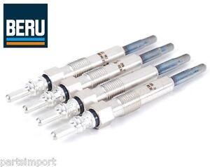 Set of 4 OEM (BERU) Diesel Glow Plugs for VW Beetle Golf Jetta Passat TDI