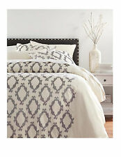 NEW Home Dec POMPEI GRAY BEDDING SET King Duvet 2 Pillow +3 Euro Shams MSR $699