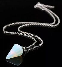 REIKI BLESSED OPALITE GEMSTONE 925 SILVER NECKLACE [FREE UK POST & PACKAGING]