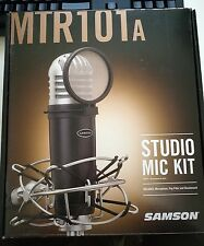 Samson MTR101A Diaphragm Condenser Microphone Mic Kit w/Shockmount & Pop Filter