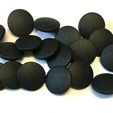 10 x 19mm matt black buttons with rear shank
