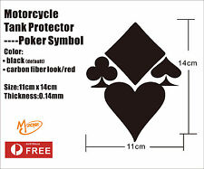 Poker Symbols Tank Pad Protector Motorcycle Sticker Gas Fuel Oil Best Gift-