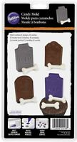 Halloween Tombstone and Bones plastic Candy Mold 8 cavities Wilton No PayPal