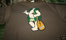 Funny T Shirt Insert Your Head Surfer Guam Large Brown