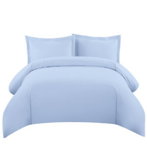 Modern Wrinkle Free Cotton Blend 600 Thread Count Solid Duvet Covers Set