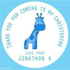 35 x Personalised Christening Giraffe Party Bag Birthday Envelope Sticker 385