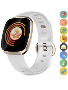 Smartwatch Fitness Tracker Touch Screen Waterproof Heart Rate Blood Pressure