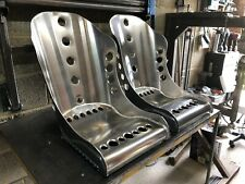 Aluminium Bucket Seat, High Top Bomber Seat- No Slot x2 Hot Rod, Classic, Retro