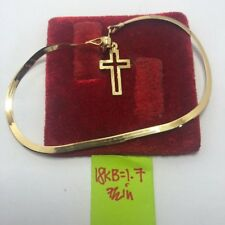 Gold Authentic 18k gold bracelet with cross