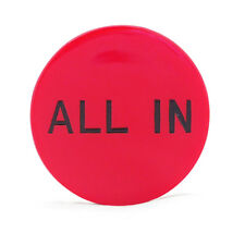 Red Color Round With Incription All In Button Chip for Game Poker Texas Holdem