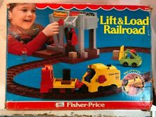 Vintage Fisher Price 1977 Lift & Load Railroad #943! Complete with Box!