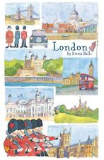 "Emma Ball ""London"", Pure cotton tea towel. Printed in the UK."