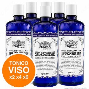 Acqua alle Rose Roberts Distillata Tonico Rinfrescante Idratante 300ml x2 x4 x6