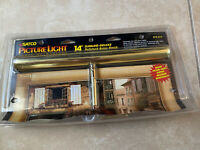 """Satco Picture Light 14"""" Slimline Deluxe Polished Brass Finish S72-213 NEW in Box"""