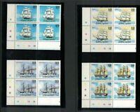 SAM12) Samoa 1981 Sailing Ships III MUH blocks of 4