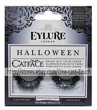EYLURE 1 Pair Eyelashes CAT FACE Reusable Lashes BLACK Limited Edition HALLOWEEN