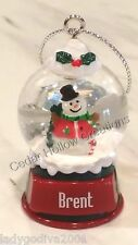Personalized Snow Globe Ornament - Brent - FREE Shipping