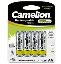 camelion AA Rechargeable Ni-Cd 600 mAh Batteries 4 Pack