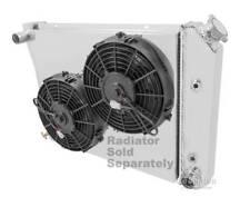 "68-87 20 Inch Core GM Custom Aluminum Shroud & 2-10"" Fans-17""H x 20 3/4""W 571"