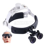 Dental Surgical Medical Headband Type Binocular Loupes Magnifier Black 3.5X-R